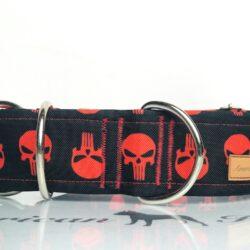 Punisher czerwony obroża półzaciskowa 5 cm