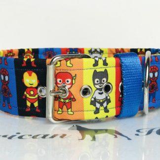 Superbohaterowie obroża na klamrę 5 cm