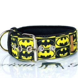 Batman Obroża na klamrę 4 cm plus podszycie