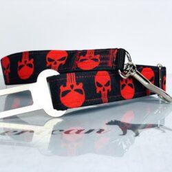 Punisher czerwony pas samochodowy