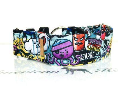 Graffiti Obroża zatrzask z zabezpieczeniem 5 cm