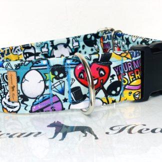 Graffiti obroża na zatrzask 5 cm