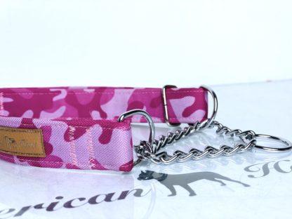 Łańsuszek półzaciskowy 25mm różowe moro - przykładowa realizacja