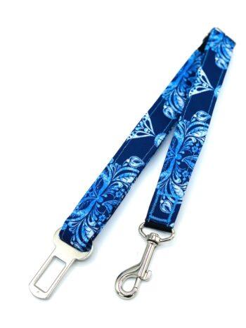 Błękitne ornamenty - pas samochodowy