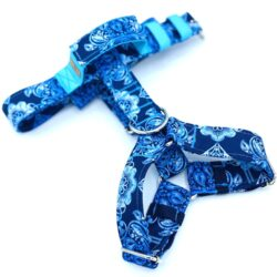 Błękitne ornamenty - szelki guard klamra rączka M