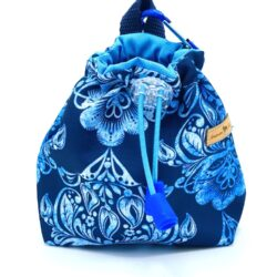 Błękitne ornamenty - woreczek na smaki