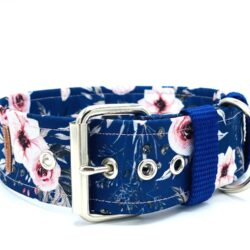 Japanese Rose dark blue - klamra 5 cm